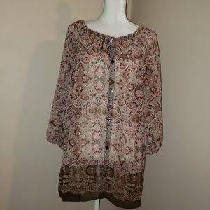 Liz Claiborne Woman SZ 2X.  Super cute blouse